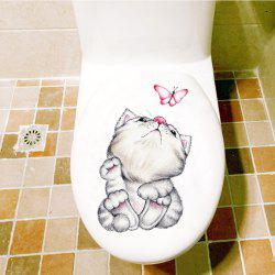 Cute Animal Fridge Toilet PVC Wall Sticker -