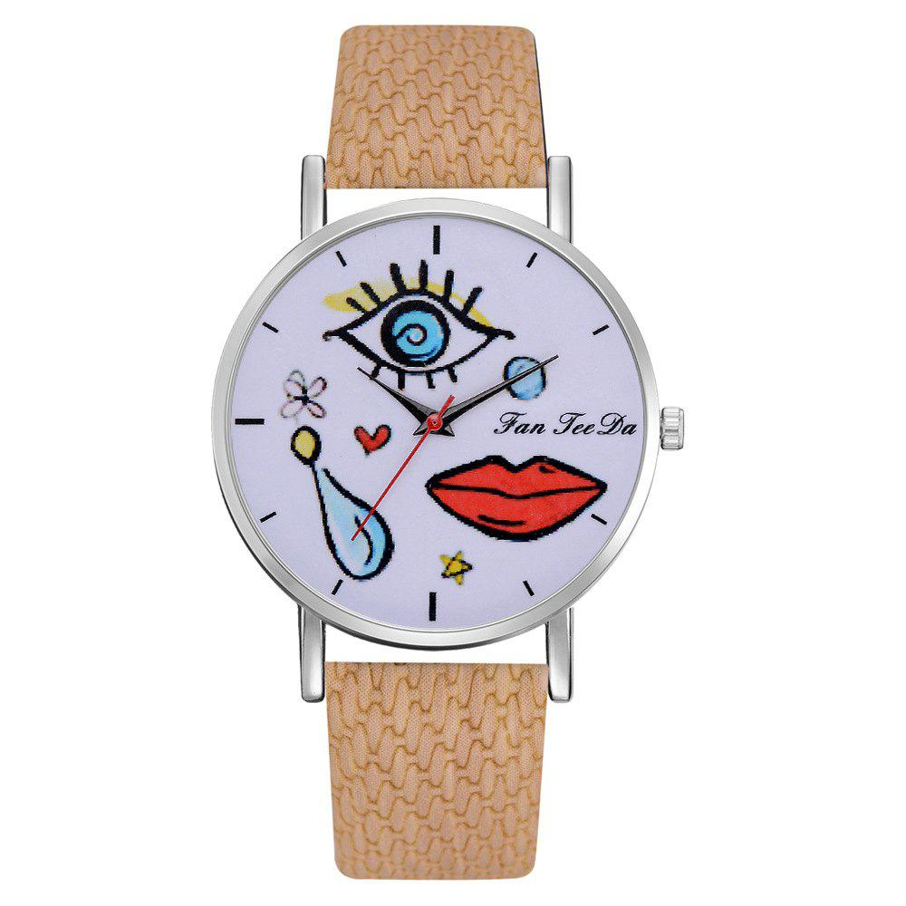 Discount The Fashion Leisure Fashion Leisure Trend Quartz Watch Table Female Students