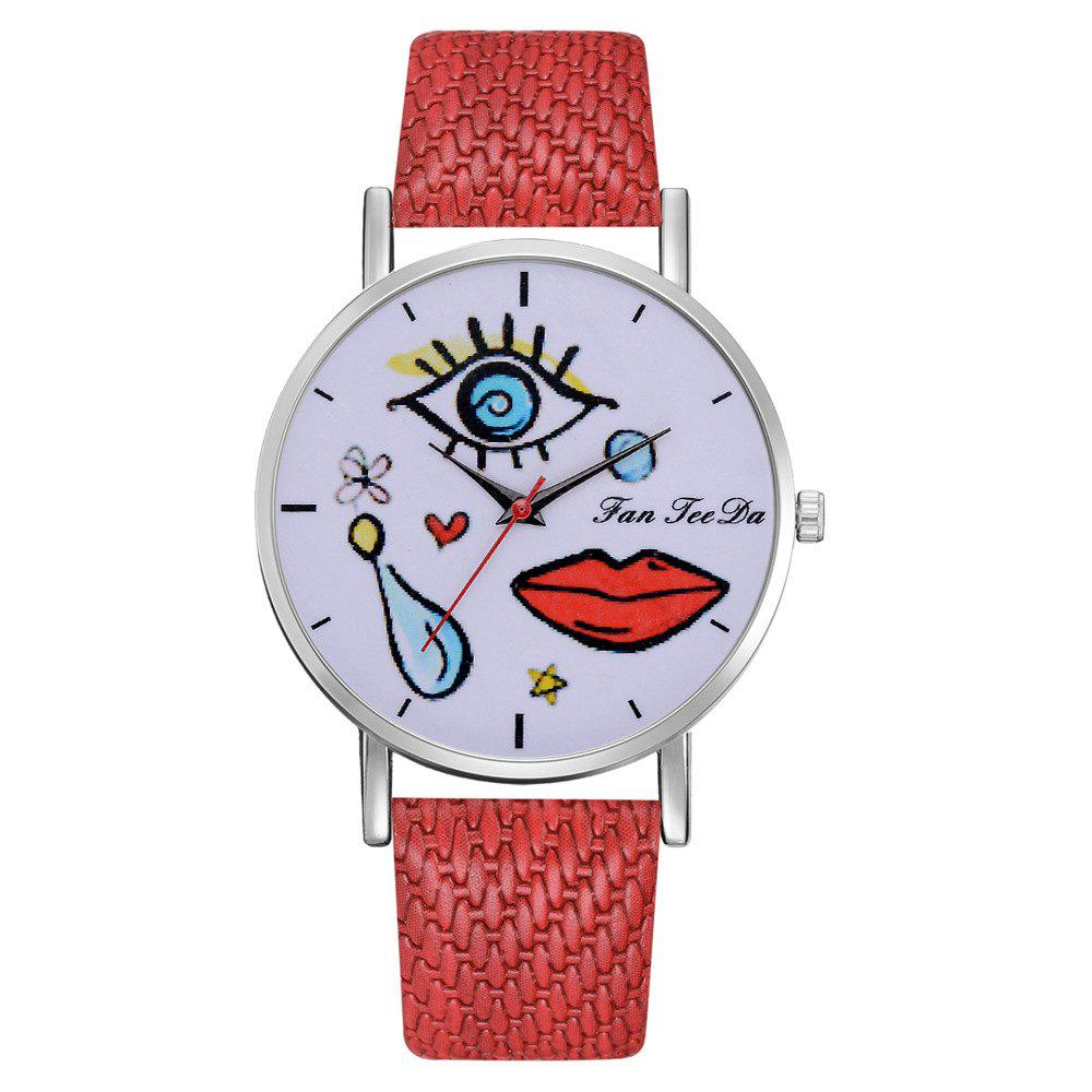 Unique The Fashion Leisure Fashion Leisure Trend Quartz Watch Table Female Students
