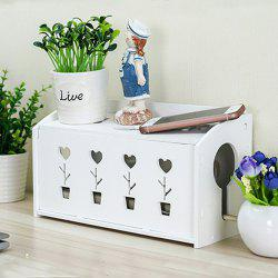 The idyllic flower blossoming small wire storage box -