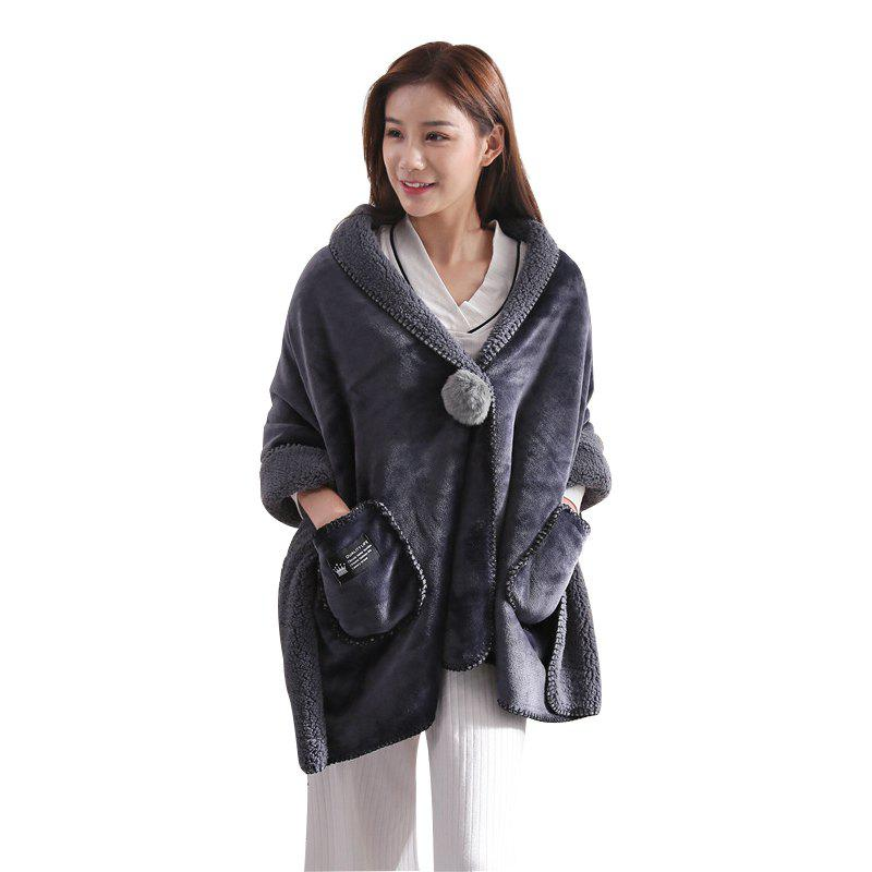 Online TKH Thick Flannel Lamb Cashmere Blanket Shawl Office Travel Home Lazy Blanket