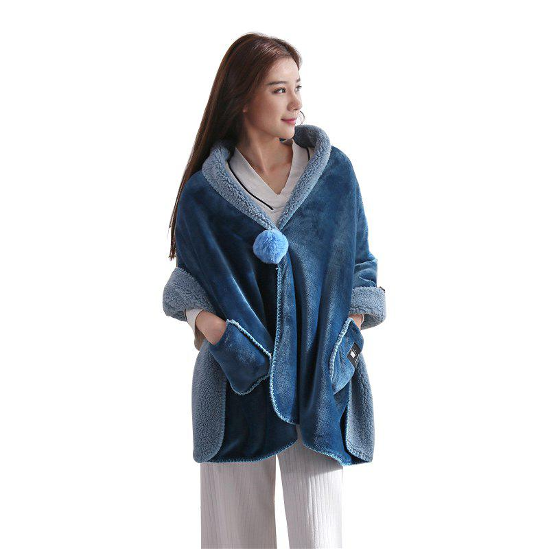 Discount WYL Thick Flannel Lamb Cashmere Blanket Shawl Office Travel Home Lazy Blanket
