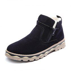 Winter Shoes Men Leather Winter Warm Ankle Boots Men Warm Casual Men Boots with -