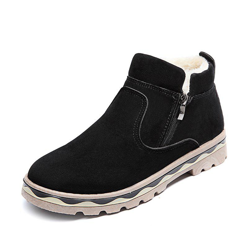 Store Winter Shoes Men Leather Winter Warm Ankle Boots Men Warm Casual Men Boots with