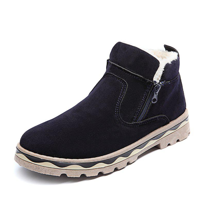 Sale Winter Shoes Men Leather Winter Warm Ankle Boots Men Warm Casual Men Boots with