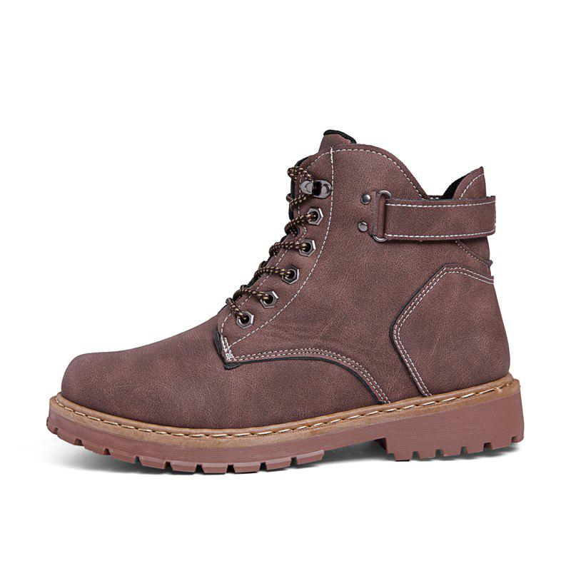 ded03a87ad1 Men Boots Solid Color Khaki Winter Shoes for Men Fashion Cool Style Mens  Shoes