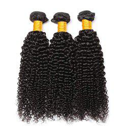 Curly Human Hair 3 Bundles 8A Brazilian Remy Kinky Curly Hair Extension -
