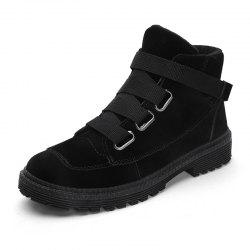 Men'S High-Top Buckle Tide Shoes British Fan Boots Boots -