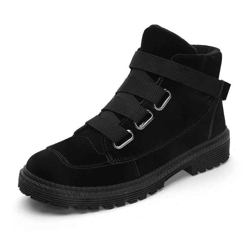 Outfit Men'S High-Top Buckle Tide Shoes British Fan Boots Boots