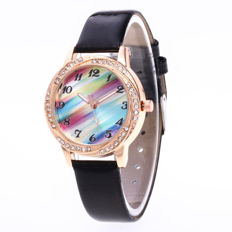 Discount New Fashionable Lady personality Rainbow Dial Leisure Wristwatch