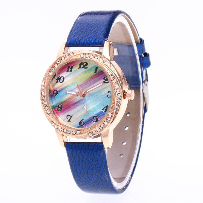 Cheap New Fashionable Lady personality Rainbow Dial Leisure Wristwatch