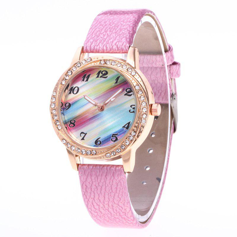 Shop New Fashionable Lady personality Rainbow Dial Leisure Wristwatch