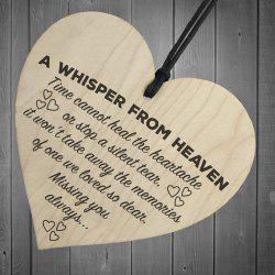 Home Heart-Shaped Wood Decoration Small Hanging -
