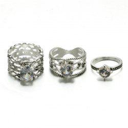 3PCS Delicate Fashion Women'S with Diamond Rings -