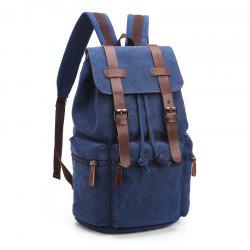 Retro Men And Women Canvas Bag Casual Fashion Computer Backpack -