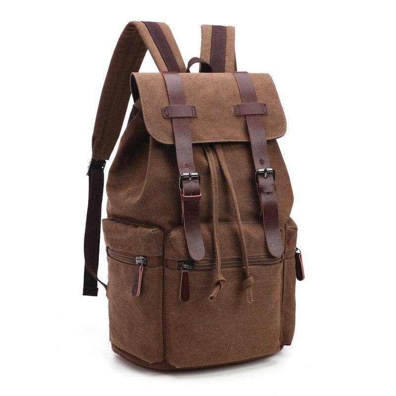 Shop Retro Men And Women Canvas Bag Casual Fashion Computer Backpack