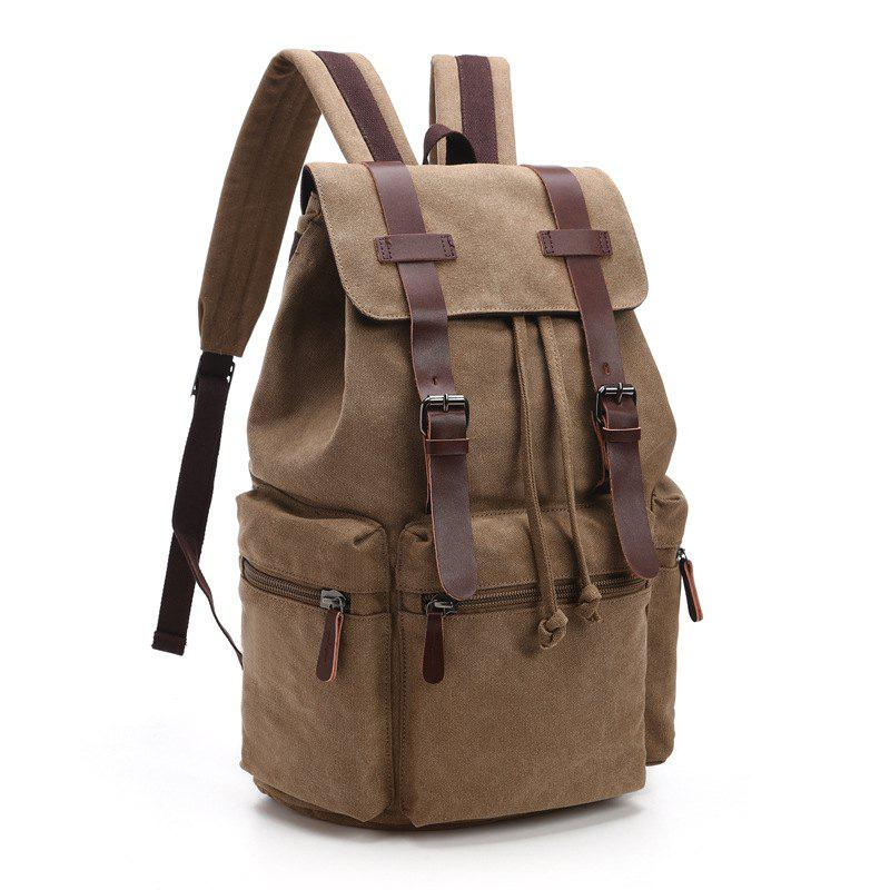Store Retro Men And Women Canvas Bag Casual Fashion Computer Backpack