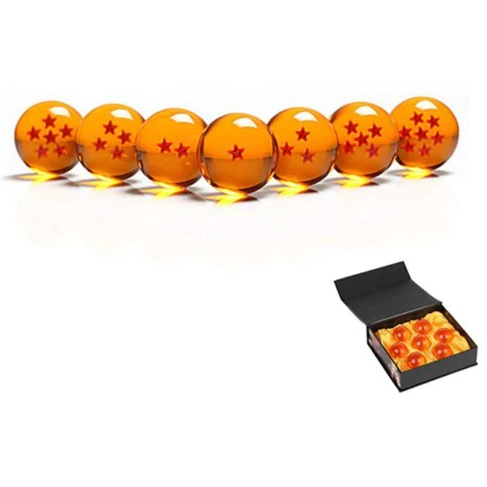 Кристалл Набор из 7Pcs 4 см Dragon Ball Crystal Balls Set Collection Toy