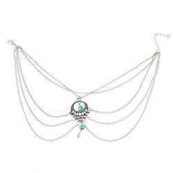 Elegant and Fashionable Women's Turquoise Foot Chain -
