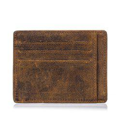New men's first layer cowhide oil wax leather  card package -