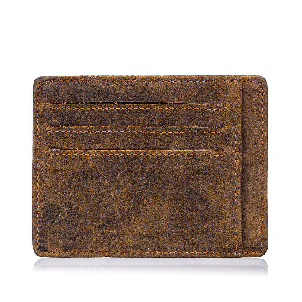 Fancy New men's first layer cowhide oil wax leather  card package