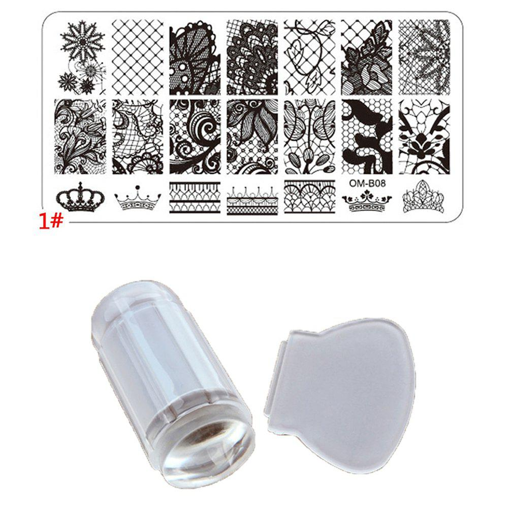Outfit Share 2PCS Manicure Stamp Translucent Print Board DIY Nail Tools