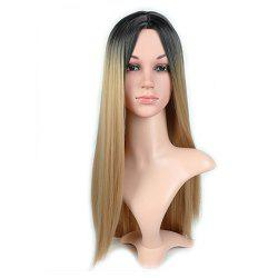 Ms Wig Hair Color More Red Gradient of Long Straight FaYa Optical Fiber Net -
