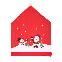 Santa Hat Chair Covers Red  For Christmas Holiday Festive Decor -