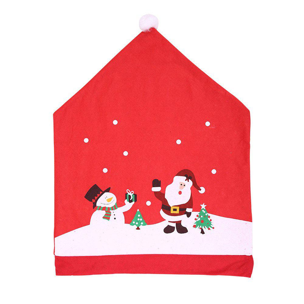 Cheap Santa Hat Chair Covers Red  For Christmas Holiday Festive Decor