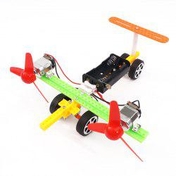 DIY Twin-engine Taxiing Aircraft Children Science Education Toy -
