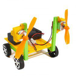 DIY Double Propeller Air Car Children Science Education Toy -