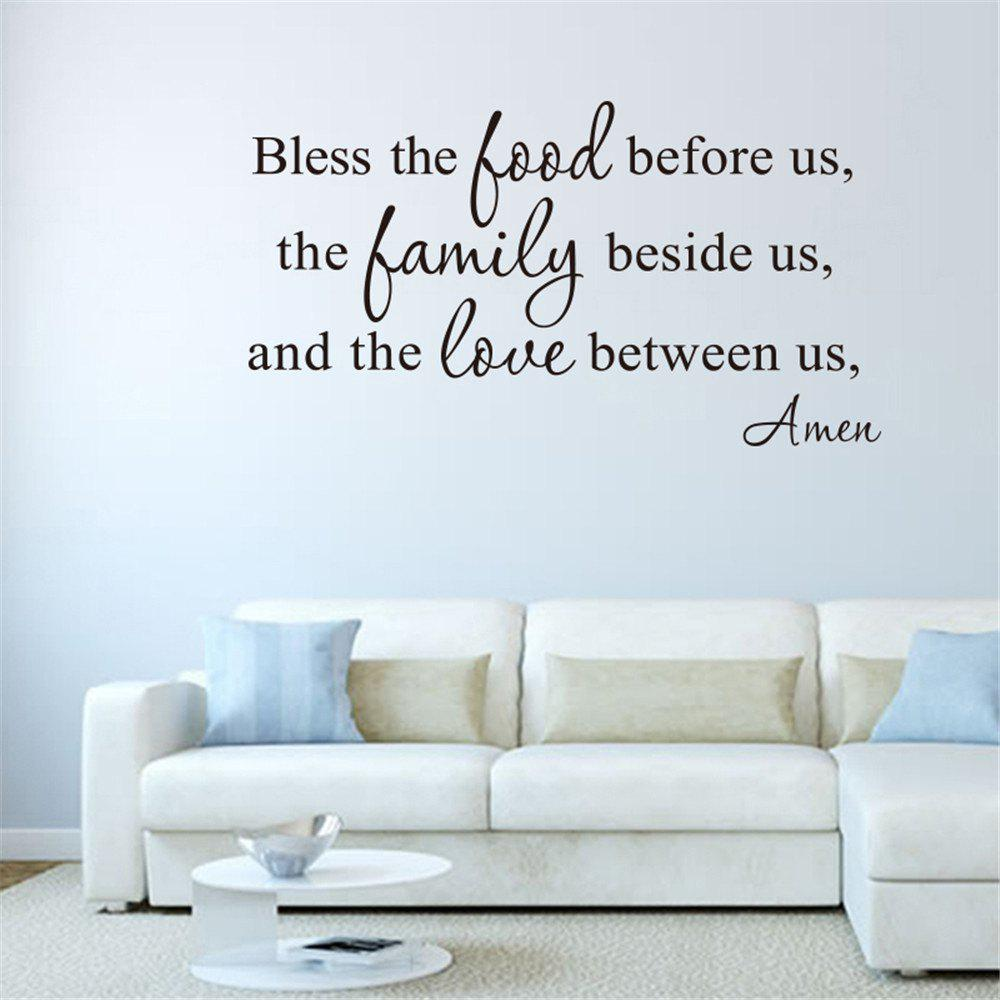 Bless The Food Before UsArt Vinyl Mural Home Room Decor Wall Stickers Removable