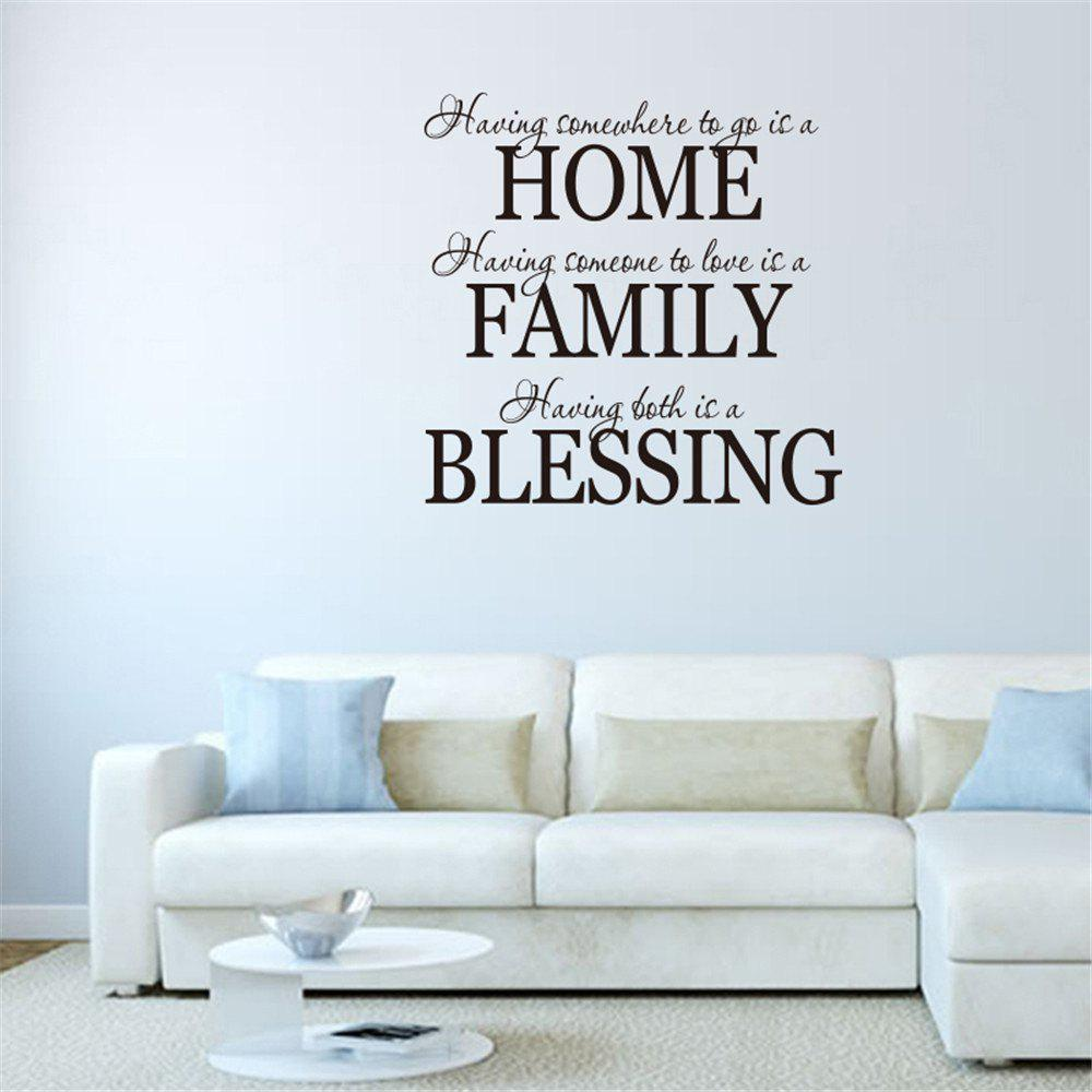 Home Family Blessing Art Vinyl Mural Home Room Decor Wall Stickers