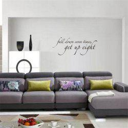 Full Down Seven Times Art Vinyl Mural Home Room Decor Wall Stickers -
