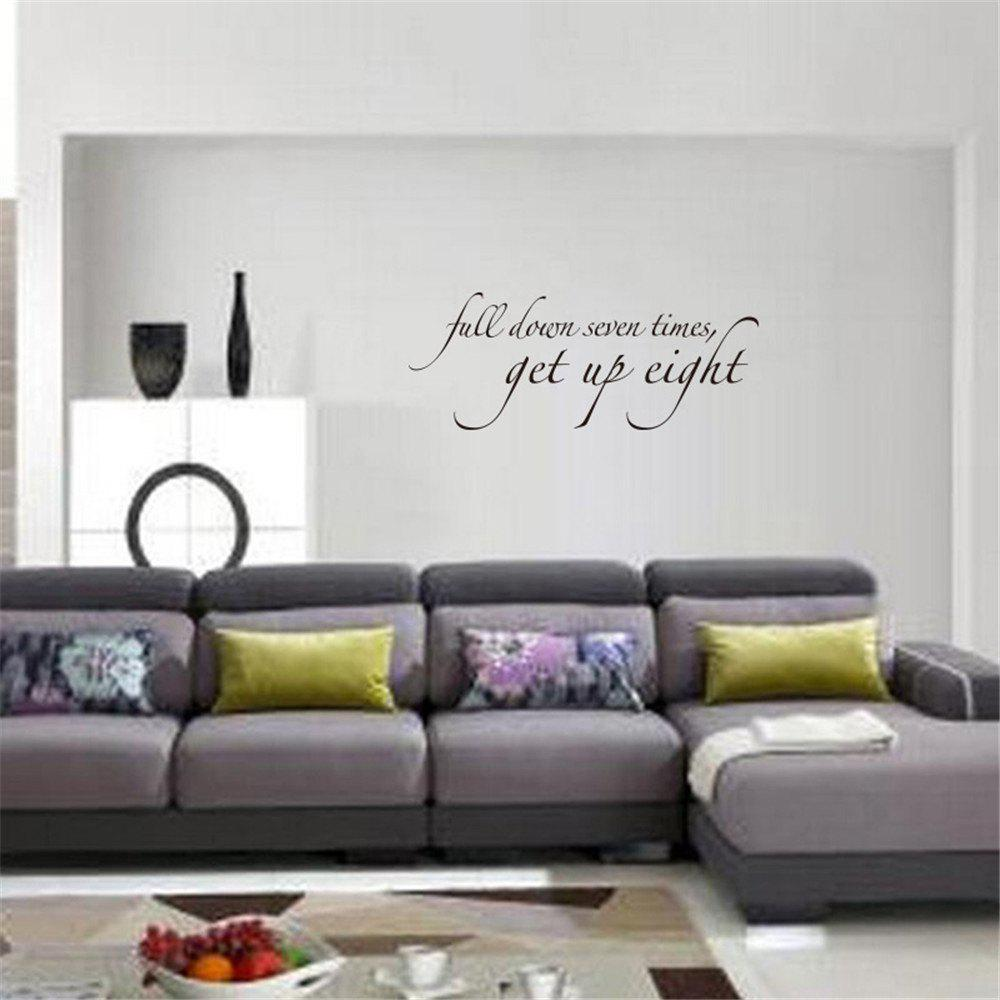 Buy Full Down Seven Times Art Vinyl Mural Home Room Decor Wall Stickers