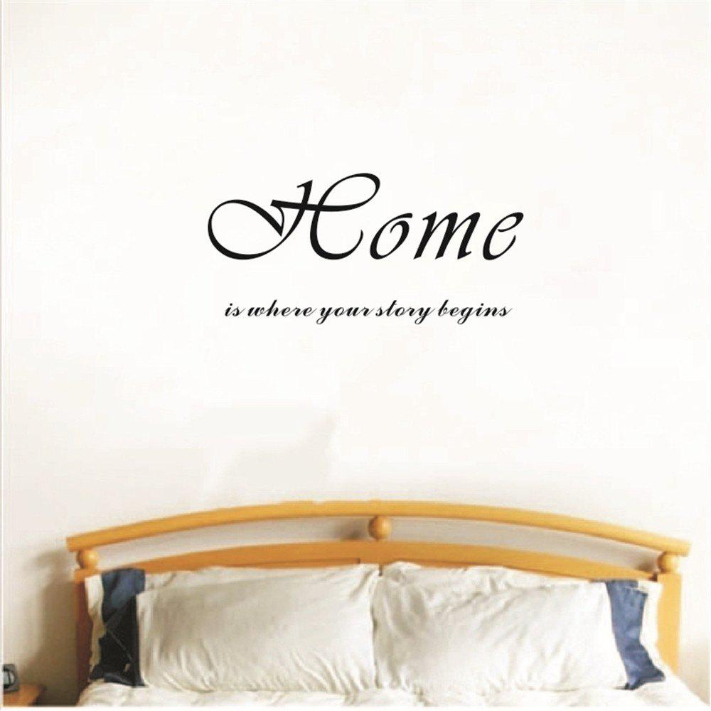 Trendy Home Is Where Story Begins Art Vinyl Mural Home Room Decor Wall Stickers