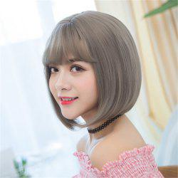 Heat Resistant Synthetic Ombre Wigs Long Straight Bob Black Brown Grey UK FAST -