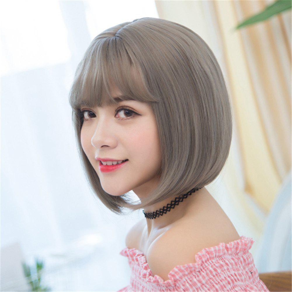 Store Heat Resistant Synthetic Ombre Wigs Long Straight Bob Black Brown Grey UK FAST