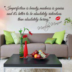 Impersonation Is Beauty Quote Removable PVC Wall Sticker -