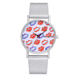 Ms New Silicone Watch with Red Mirror Fashion Quartz Watch -