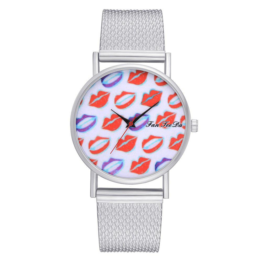 Fancy Ms New Silicone Watch with Red Mirror Fashion Quartz Watch