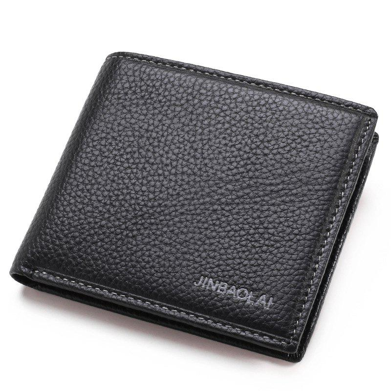 Outfit Men'S Head Layer Cowhide Business Leather Wallet