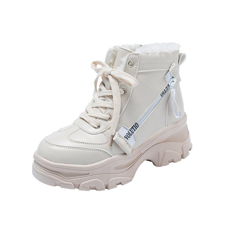 Fancy Thick Bottom with A Hundred  Student Boots Comfortable  Boots