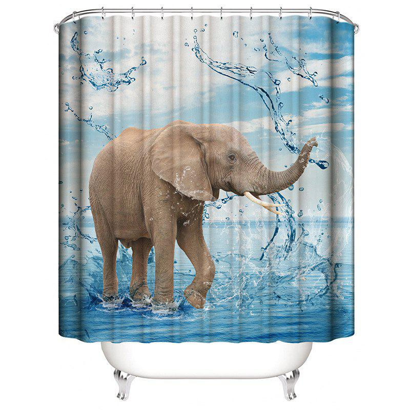 3D Printed Elephant Waterproof Mildew Shower Curtain