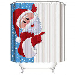 Christmas Shower Curtain Santa Claus 3D Digital Printing Waterproof -