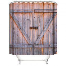 Old Wooden Door 3D Digital Printing Waterproof Mildew Shower Curtain -