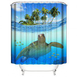 3D Digital Printing Waterproof Mildew Shower Curtain -
