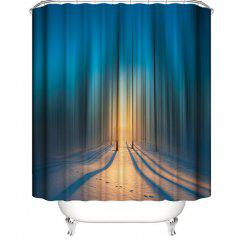 3D Abstract Digital Printing Waterproof Polyester Shower Curtain -