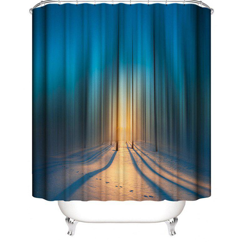 Fashion 3D Abstract Digital Printing Waterproof Polyester Shower Curtain