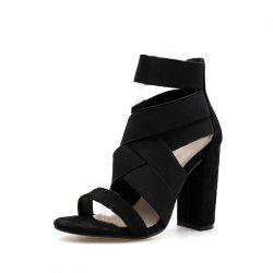 Women's Square Heel High Heels European Sandals -